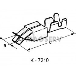 KONEKTOR ISO ŻEŃSKI K-7210 A-2.8 C-18.7