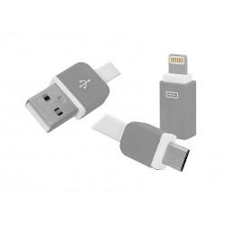 PRZEWÓD USB-Iphone/microUSB 3w1
