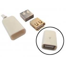 GNIAZDO USB-A HQ NA KABEL Z OBUDOWĄ